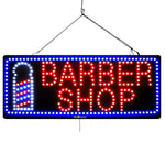 Barber Shop with Barber Pole Image - Large LED Window Sign (#1029) - Led Open Signs