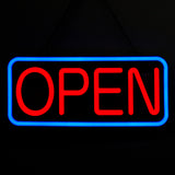 Rectangular Shape, Red - Blue Color (#3281) - Led Open Signs