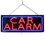 Car Alarm - Large LED Window Sign (#2566) - Led Open Signs