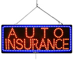 Large LED Window Sign - Auto Insurance - 32 inches Wide - LED-Factory (#2567) - Led Open Signs