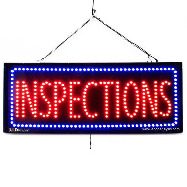 Inspections - Large LED Window Sign (#2569) - Led Open Signs