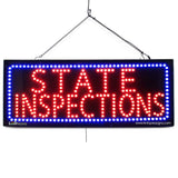 State Inspections - Large LED Window Sign (#2570) - Led Open Signs