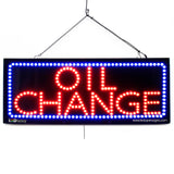 Large LED Window Sign - Oil Change -32 inches Wide- LED-Factory (#2571) - Led Open Signs