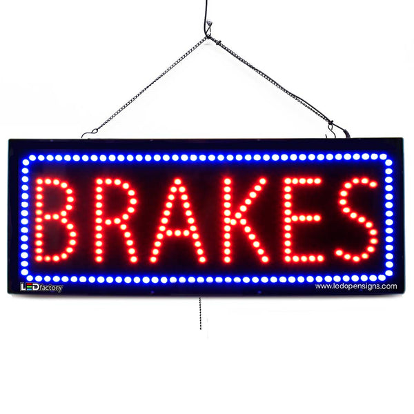 Brakes - Large LED Window Sign (#2572) - Led Open Signs