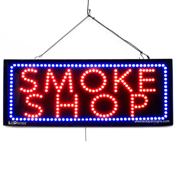 SMOKE SHOP - Large LED Window Sign  (#2575) - Led Open Signs
