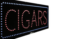 Cigars- Large LED Window Sign (#2576) - Led Open Signs