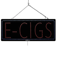 Large LED Window Sign - E-Cigs -32 inches Wide- LED-Factory (#2581) - Led Open Signs
