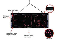 E-Cigs- Large LED Window Sign (#2581) - Led Open Signs