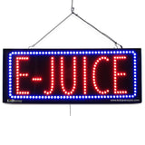 E-Juice- Large LED Window Sign (#2582) - Led Open Signs