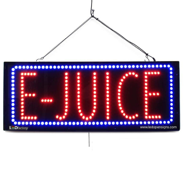Large LED Window Sign - E-Juice -32 inches Wide- LED-Factory (#2582) - Led Open Signs
