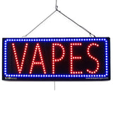 Vapes - Large LED Window Sign (#2583) - Led Open Signs