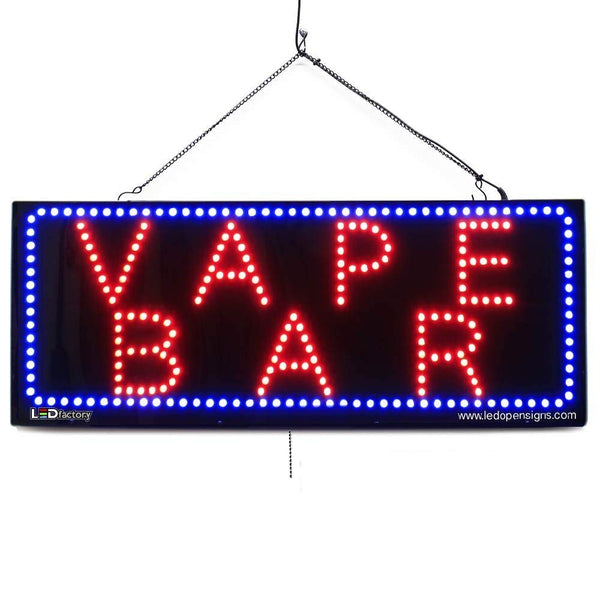 Vape BAR- Large LED Window Sign (#2588) - Led Open Signs
