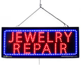 JEWELRY REPAIR- Large LED Window Sign (#2590) - Led Open Signs