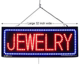 Jewelry - Large LED Window Sign (#2591) - Led Open Signs
