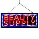 Large LED Window Sign - Beauty Supply -32 inches Wide LED Factory (#2593) - Led Open Signs