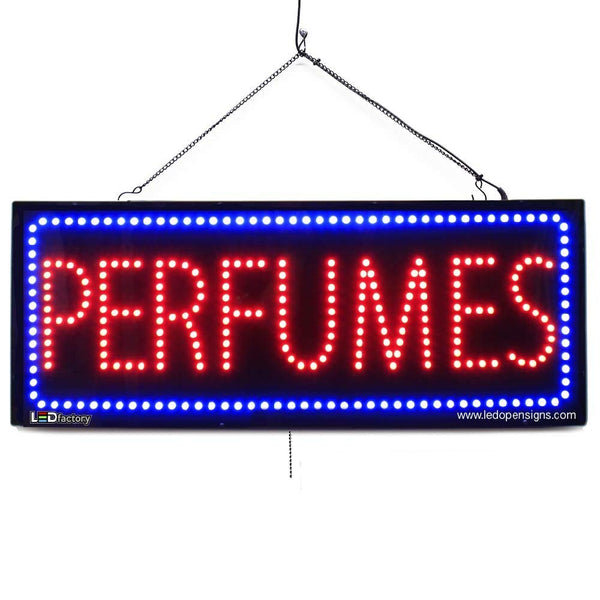 PERFUMES - Large LED Window Sign (#2594) - Led Open Signs