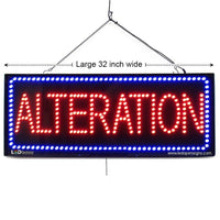 Alteration - Large LED Window Sign (#2598) - Led Open Signs
