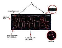 Medical Supplies - Large LED Window Sign (#2613) - Led Open Signs