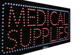 Large LED Window Sign -  Medical Supplies - 32 inches Wide - LED-Factory (#2613) - Led Open Signs