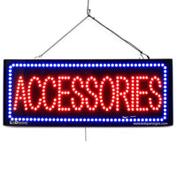Large LED Window Sign - Accessories - 32 inches Wide - LED-Factory (#2614) - Led Open Signs