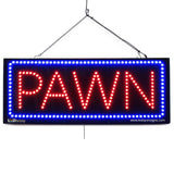 Large LED Window Sign - Pawn - 32 inches Wide - LED-Factory (#2616) - Led Open Signs