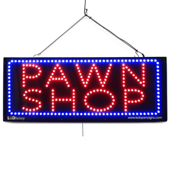 Large LED Window Sign - Pawn Shop - 32 inches Wide - LED-Factory (#2617) - Led Open Signs
