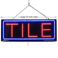 Tile - Large LED Window Sign (#2622) - Led Open Signs