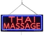 Large LED Window Sign - Thai Massage - 32 inches Wide - LED-Factory (#2625) - Led Open Signs