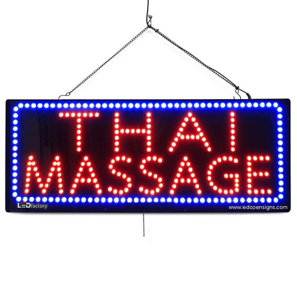 Thai Massage - Large LED Window Sign (#2625) - Led Open Signs