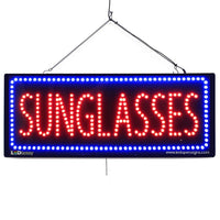 Sunglasses - Large LED Window Sign (#2628) - Led Open Signs