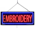 Embroidery - Large LED Window Sign (#2630) - Led Open Signs