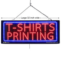 T-Shirts Printing - Large LED Window Sign (#2631) - Led Open Signs