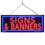 Signs & Banners - Large LED Window Sign (#2632) - Led Open Signs