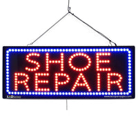 Shoe Repair- Large LED Window Sign (#2633) - Led Open Signs