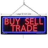 Buy Sell Trade - Large LED Window Sign (#2636) - Led Open Signs