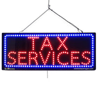 Tax Services - Large LED Window Sign (#2639) - Led Open Signs
