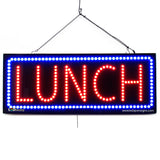 Lunch- Large LED Window Sign (#2654) - Led Open Signs