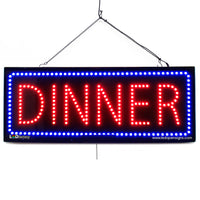 Large LED Window Sign - Dinner - 32 inches Wide - LED-Factory (#2655) - Led Open Signs