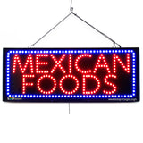 Mexican Foods - Large LED Window Sign (#2658) - Led Open Signs