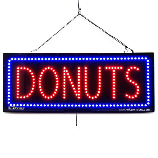 Donuts - Large LED Window Sign (#2660) - Led Open Signs