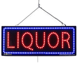 Liquor - Large LED Window Sign (#2662) - Led Open Signs