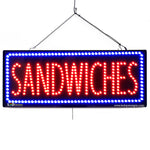 Large LED Window Sign - Sandwiches - 32 inches Wide - LED-Factory (#2664) - Led Open Signs