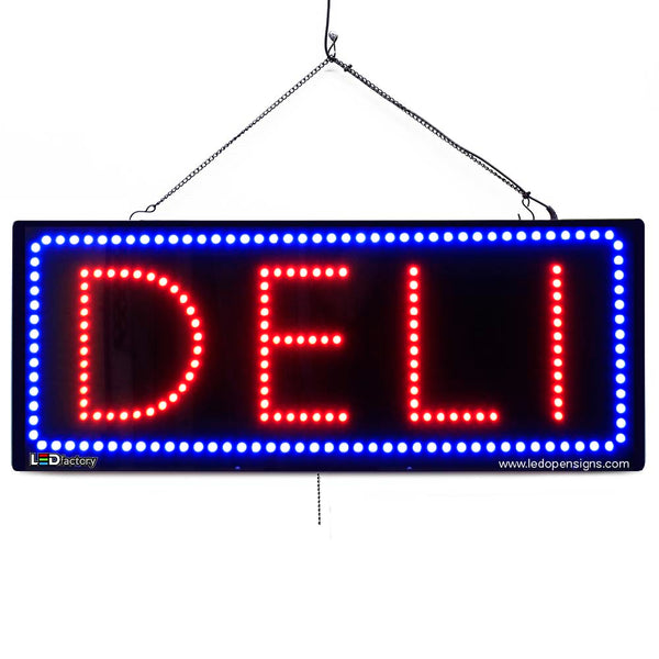 Deli - Large LED Window Sign (#2666) - Led Open Signs
