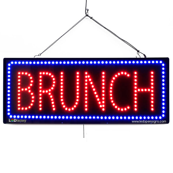 Large LED Window Sign - Brunch - 32 inches Wide - LED-Factory (#2667) - Led Open Signs