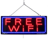 Free WiFi - Large LED Window Sign (#2669) - Led Open Signs