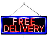 Free Delivery - Large LED Window Sign (#2672) - Led Open Signs