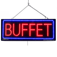 Large LED Window Sign - Buffet - 32 inches Wide - LED-Factory (#2679) - Led Open Signs