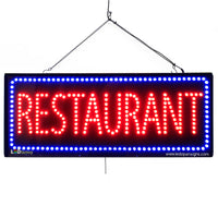 Large LED Window Sign - Restaurant - 32 inches Wide - LED-Factory (#2683) - Led Open Signs