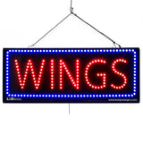 Wings - Large LED Window Sign (#2685) - Led Open Signs