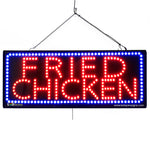 Large LED Window Sign - Fried Chicken - 32 inches Wide - LED-Factory (#2686) - Led Open Signs